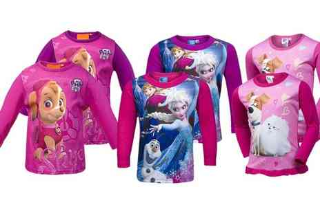 Groupon Goods Global GmbH - Girls Two Pack of Character Long Sleeved Tops - Save 0%