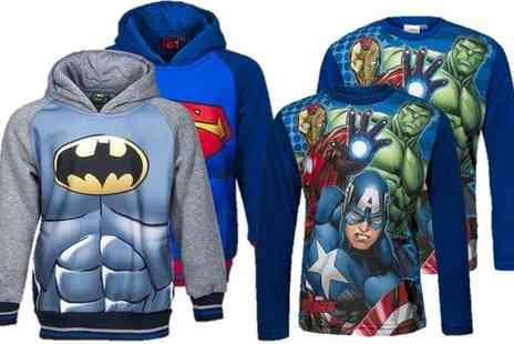 Groupon Goods Global GmbH - Boys Character Two Long Sleeved Tops or One Long Sleeved Hoodie - Save 0%