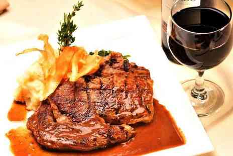 Villa Toscana Restaurant - Steak Meal with Wine for Two or Four - Save 55%