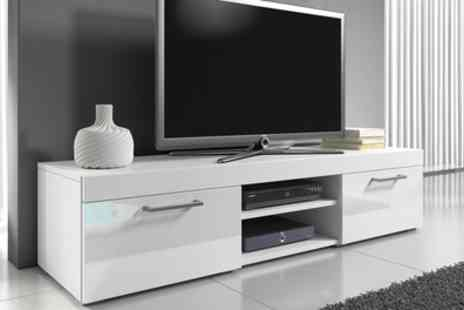 Groupon Goods Global GmbH - Mambo Gloss TV Cabinet With Free Delivery - Save 55%