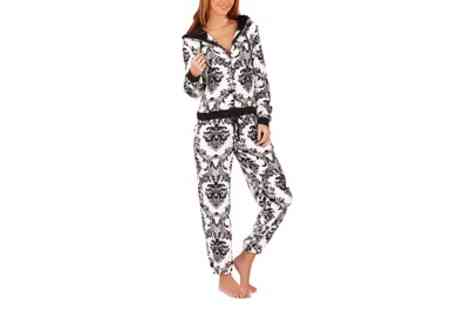 Groupon Goods Global GmbH - Womens Baroque Print Soft Onesie Jumpsuit - Save 0%