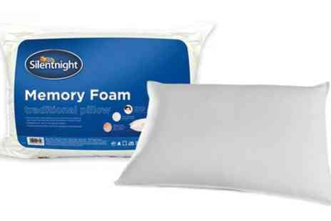 Groupon Goods Global GmbH - One or Two Silentnight Traditional Memory Foam Pillows - Save 63%