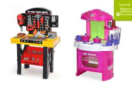 Groupon Goods Global GmbH - Kitchen or Tool Bench Role Play Toys - Save 55%