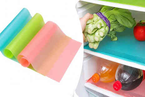 Richardson Group - 4x Multi Use Antibacterial Moisture Proof Fridge Pads in 3 Colours - Save 45%