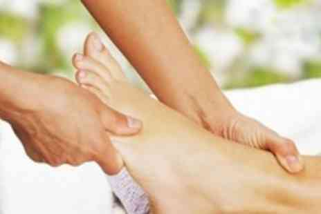 Beauty at Inches - Paraffin Wax Pedicure and Reflexology Foot Treatment Plus Gelish Polish - Save 56%