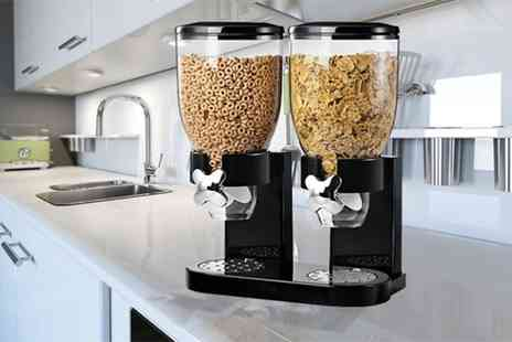 Groupon Goods Global GmbH - Single or Double Cereal Dispenser in Choice of Colour - Save 73%