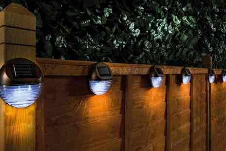 Groupon Goods Global GmbH - Solar Fence Lights Two Sets or Four Sets - Save 36%