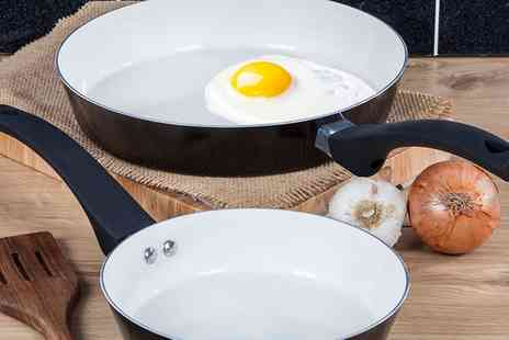 Groupon Goods Global GmbH - Tower Taper Two Piece Frying Pan Set in Choice of Colour - Save 75%