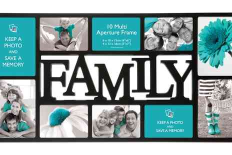 Groupon Goods Global GmbH - One or Two Family Collage Ten Photo Frames - Save 9%