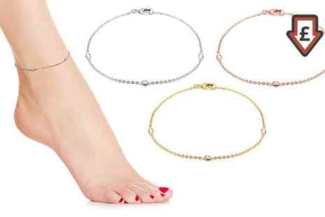 Groupon Goods Global GmbH - Anklets with Crystals - Save 82%