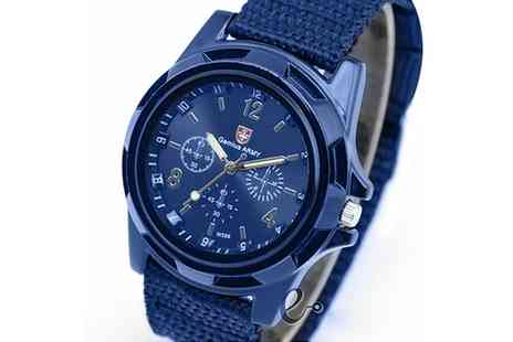 Groupon Goods Global GmbH - Swiss Outdoor Mens Army Style Watch - Save 0%