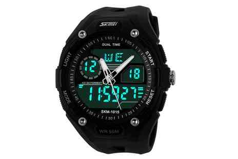Groupon Goods Global GmbH - Double Movement Military Style Digital Wristwatch - Save 0%