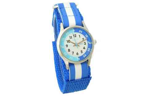 Groupon Goods Global GmbH - Reflex Blue and White Velcro Strap Watch - Save 0%