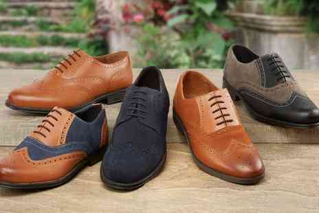 Groupon Goods Global GmbH - Mens Leather Brogues With Free Delivery - Save 63%