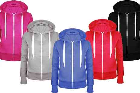 Groupon Goods Global GmbH - Womens Zip Hoodie Sweatshirt Jacket - Save 69%