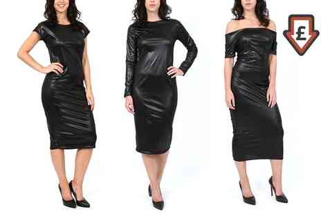 Groupon Goods Global GmbH - Womens Pvc Wet Look Dress - Save 0%