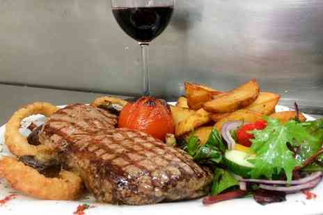 The Moorings - Romantic Steak Meal with Sides and Wine for Two or Four - Save 0%