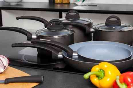 Groupon Goods Global GmbH - Tower Five Piece Ceramic Coated Pan Set With Free Delivery - Save 66%