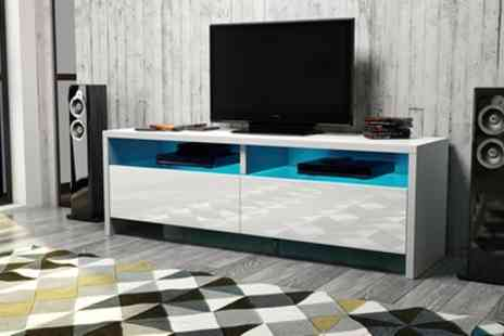 Groupon Goods Global GmbH - Dione TV Cabinet with LED Lighting With Free Delivery - Save 52%