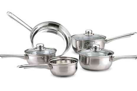 Groupon Goods Global GmbH - Five Piece Tapered Pan Set With Free Delivery - Save 27%