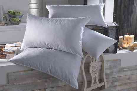Deals Direct - Two goose feather and down pillows - Save 63%