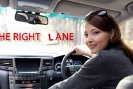 In The Right Lane - Four Driving Lessons in a Automatic Car - Save 70%