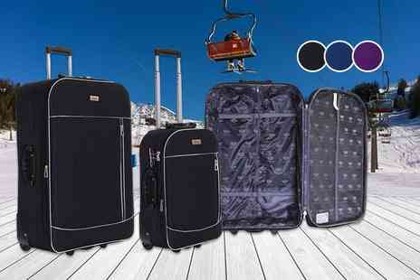 Karabar - Two piece soft shell expandable Slimbridge luggage set - Save 0%