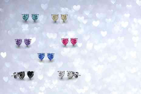 Fakurma - Seven pairs of heart stud earrings - Save 93%