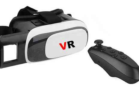 Groupon Goods Global GmbH - Virtual Reality Headset with Bluetooth Remote - Save 90%
