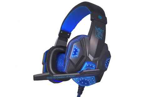 Groupon Goods Global GmbH - Gaming Headset with Surround Stereo Headphones - Save 87%