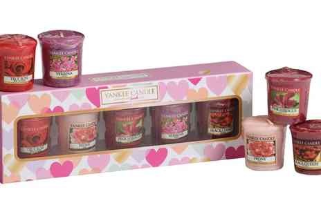 Groupon Goods Global GmbH - One or Two Yankee Candle Five Piece Valentines Votive Gift Sets - Save 38%