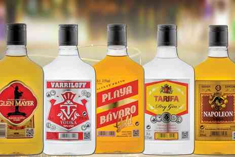 karpe deal - Five 350ml Bottles of Spirits Whisky, Brandy, Gin, Vodka and Rum With Free Delivery - Save 40%
