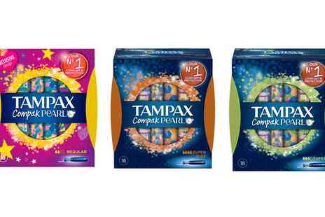 Groupon Goods Global GmbH - Tampax Compak Pearl Tampons Pack of 72 in Choice of Type - Save 25%
