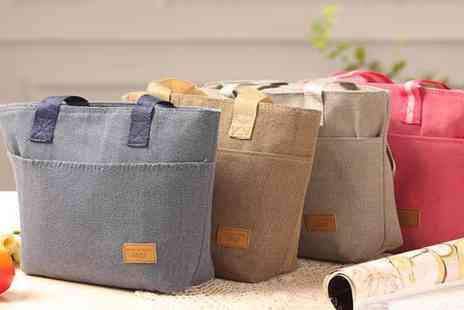 Groupon Goods Global GmbH - Four Canvas Thermal Lunch Bags - Save 80%