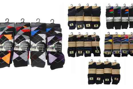 Groupon Goods Global GmbH - 12, 24 or 36 Pairs of Mens Socks in Choice of Designs - Save 0%