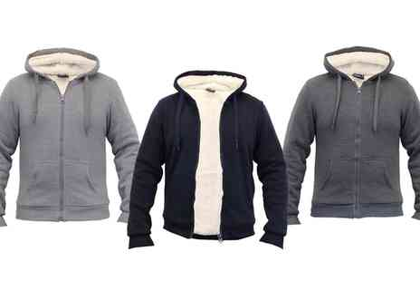 Groupon Goods Global GmbH - Dissident Mens Sherpa Fleece Lined Hooded Jacket - Save 0%