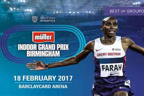 UK Athletics - Adult or concession ticket to Müller Indoor Grand Prix Birmingham on 18 February - Save 0%