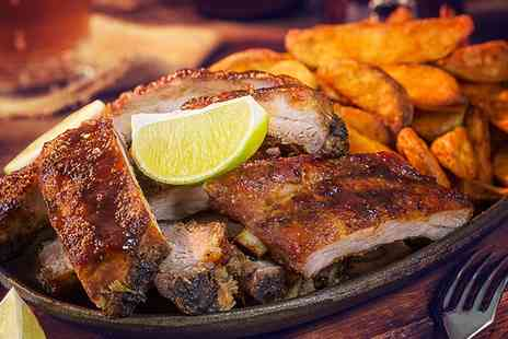 Boozy Bones - Smokehouse Dinner with Drinks for Two or Four - Save 53%