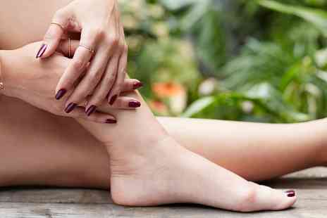 The Day Spa - Shellac Manicure or Pedicure or Both - Save 29%