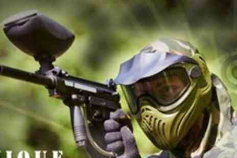 Unique Pursuits Paintball - Paintballing For Ten Plus Lunch and 100 Paintballs Each - Save 91%
