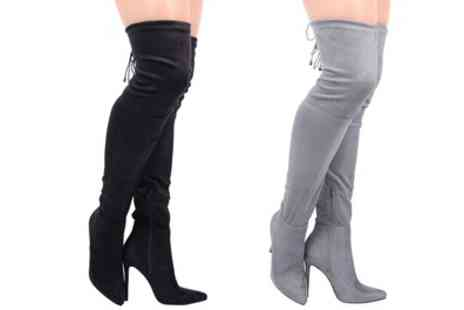 Groupon Goods Global GmbH - Womens Stiletto Heel Over the Knee Boots With Free Delivery - Save 0%