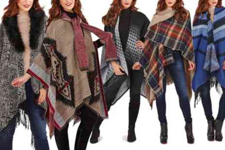 Groupon Goods Global GmbH - Kurt Muller Wrap or Poncho in Choice of 12 Designs - Save 0%
