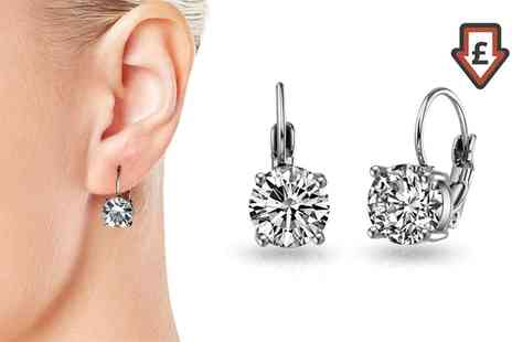Groupon Goods Global GmbH - Callisto Earrings with Crystals from Swarovski - Save 77%