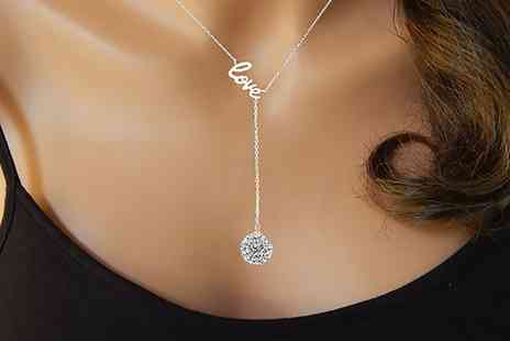 Groupon Goods Global GmbH - Love Necklaces with Crystals from Swarovski - Save 69%
