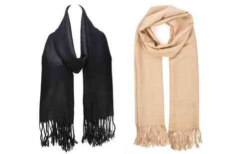 Groupon Goods Global GmbH - One or Two Womens Casual Tassel Scarves - Save 62%