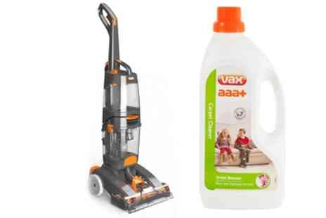 Groupon Goods Global GmbH - Vax Dual Power Max Carpet Washer VRS801 with Carpet Cleaner With Free Delivery - Save 62%