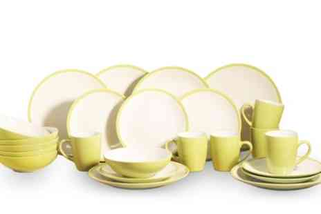 Groupon Goods Global GmbH - 24 Piece Two Tone Dinner Set With Free Delivery - Save 42%
