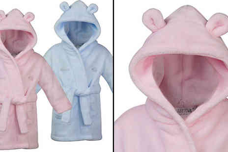 Treats On Trends - Childrens Super Soft Personalised Robe in 7 Sizes, Pink or Blue - Save 60%