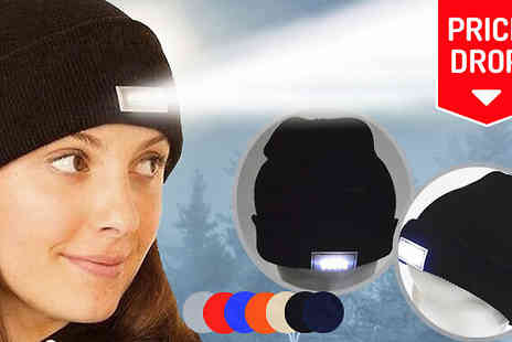 Intradify - LED Headlamp Beanie in 6 Colours - Save 75%