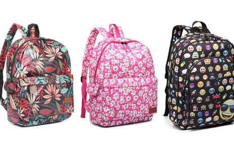 Groupon Goods Global GmbH - Miss Lulu Printed Oilcloth Large Backpacks - Save 54%